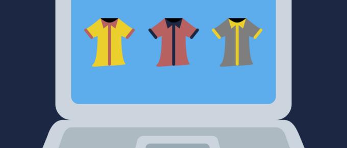Como montar uma loja virtual de roupas - camisas