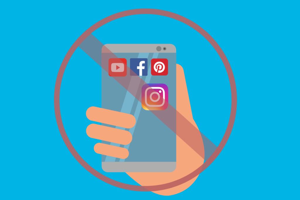 celular mostrando a conta do instagram desativada