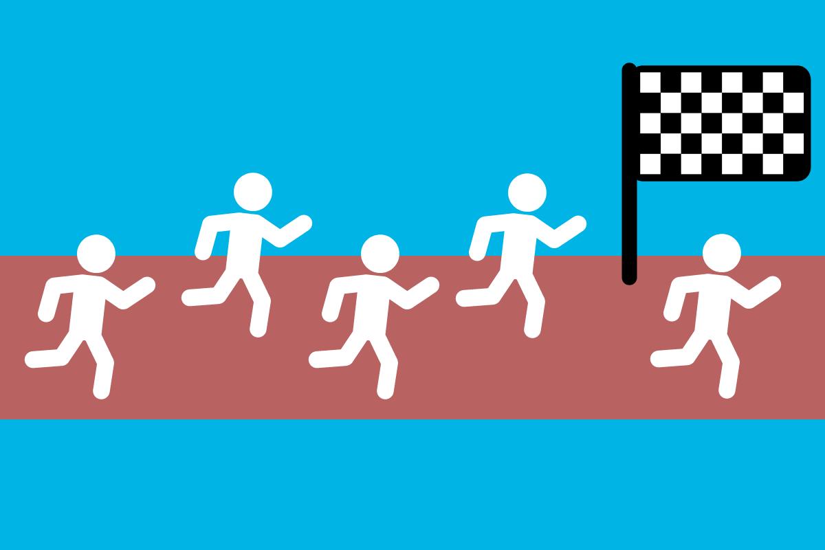 corrida concorrência