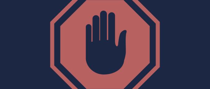 erros graves no ecommerce - sinal dizendo 'pare'