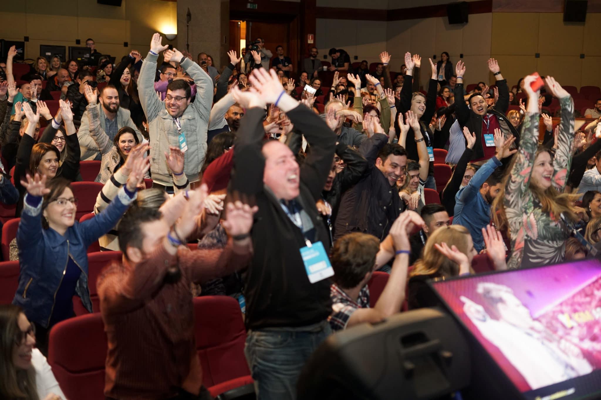 clientes animados no evento Viver de Ecommerce Live 2018