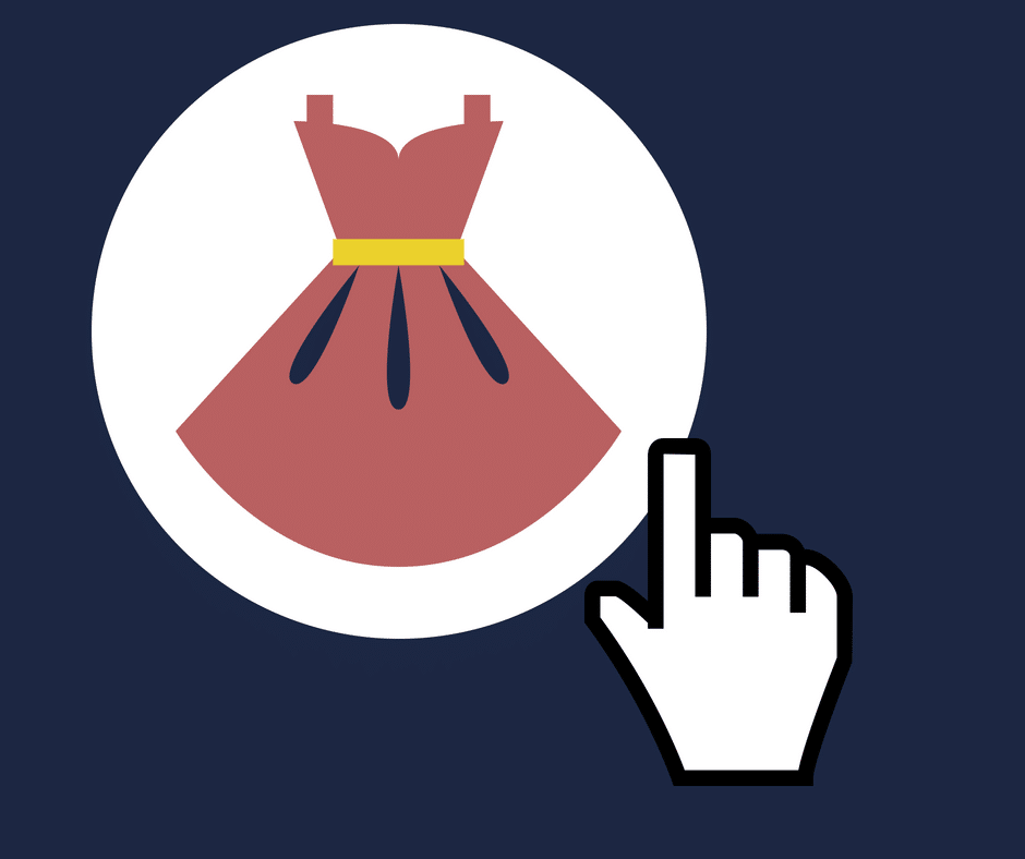 ctr - clique em um anúncio de vestido