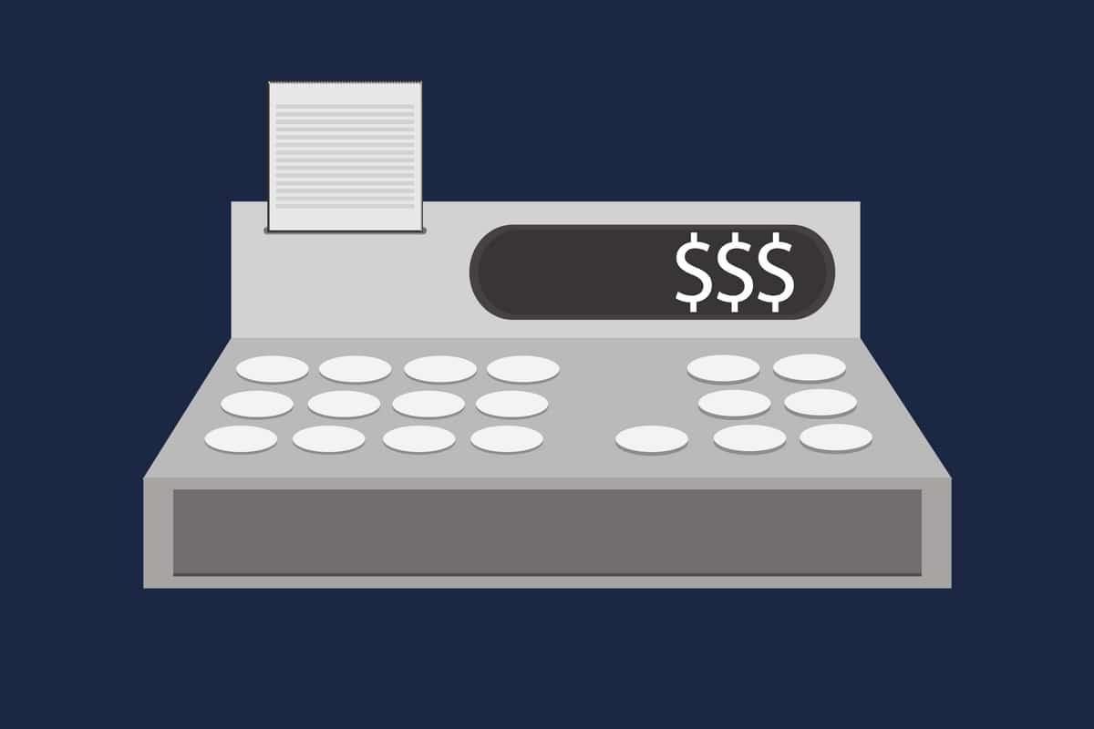 precificação de produtos - caixa registradora
