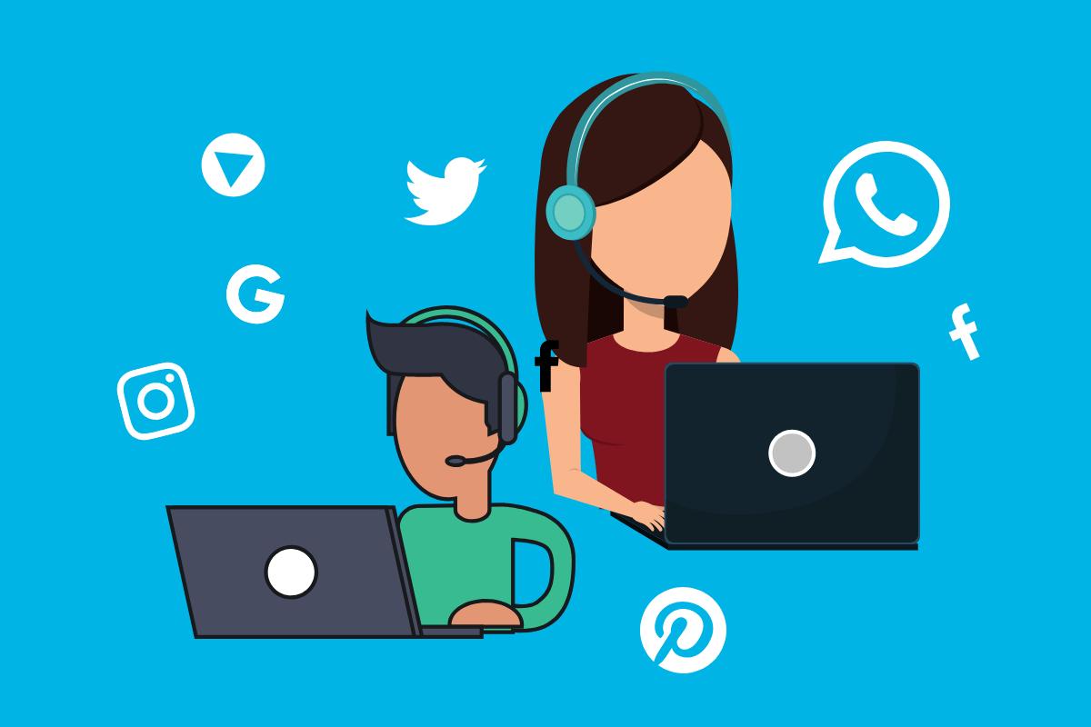 multiplos pontos de contato com clientes