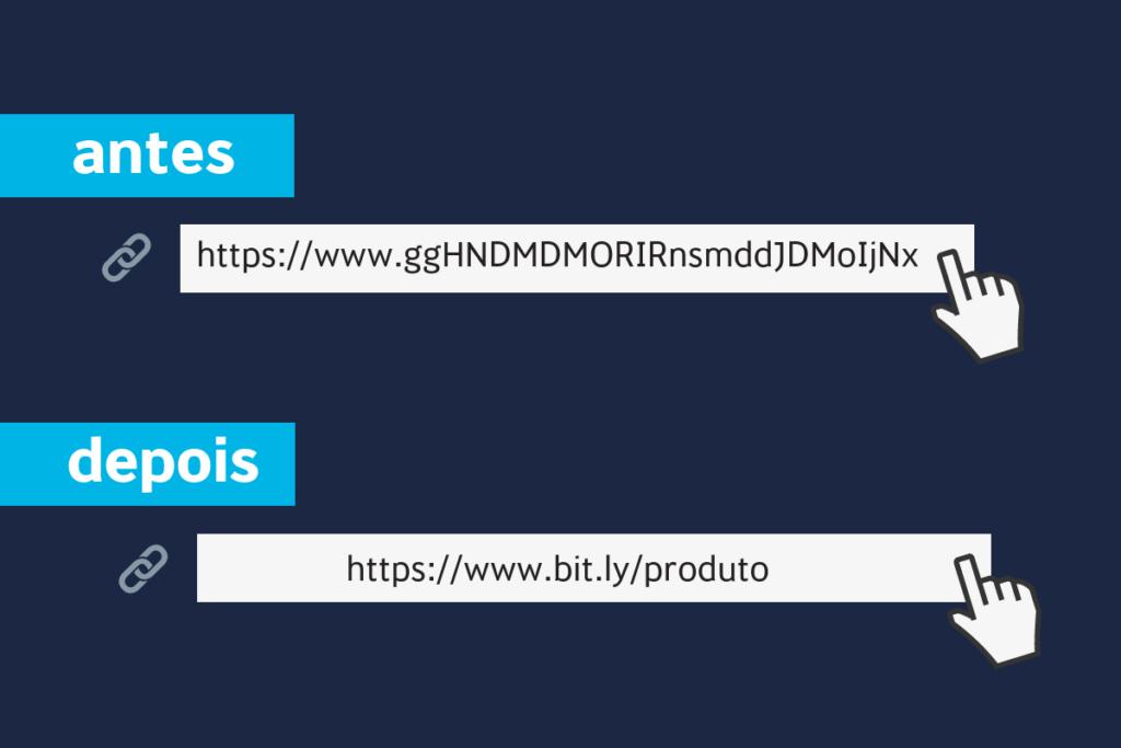 diferença entre o link normal e o link encurtado
