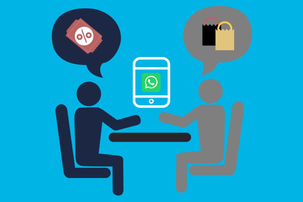 vendedor e cliente conversando pelo whatsapp