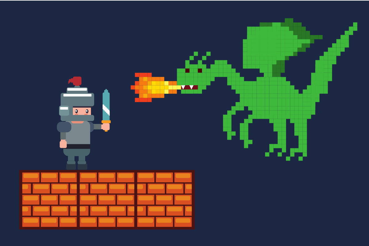 gamificação - soldado versus dragão