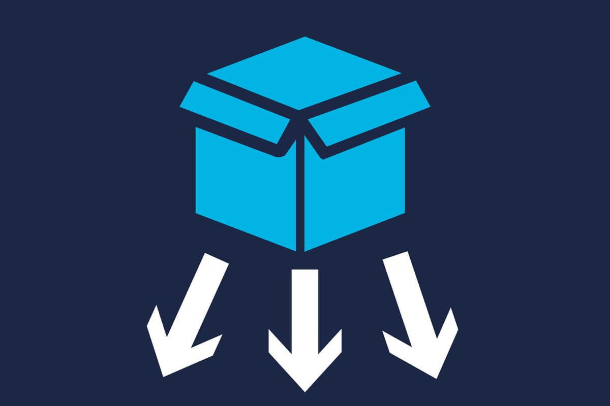 logística reversa - caixa com setas