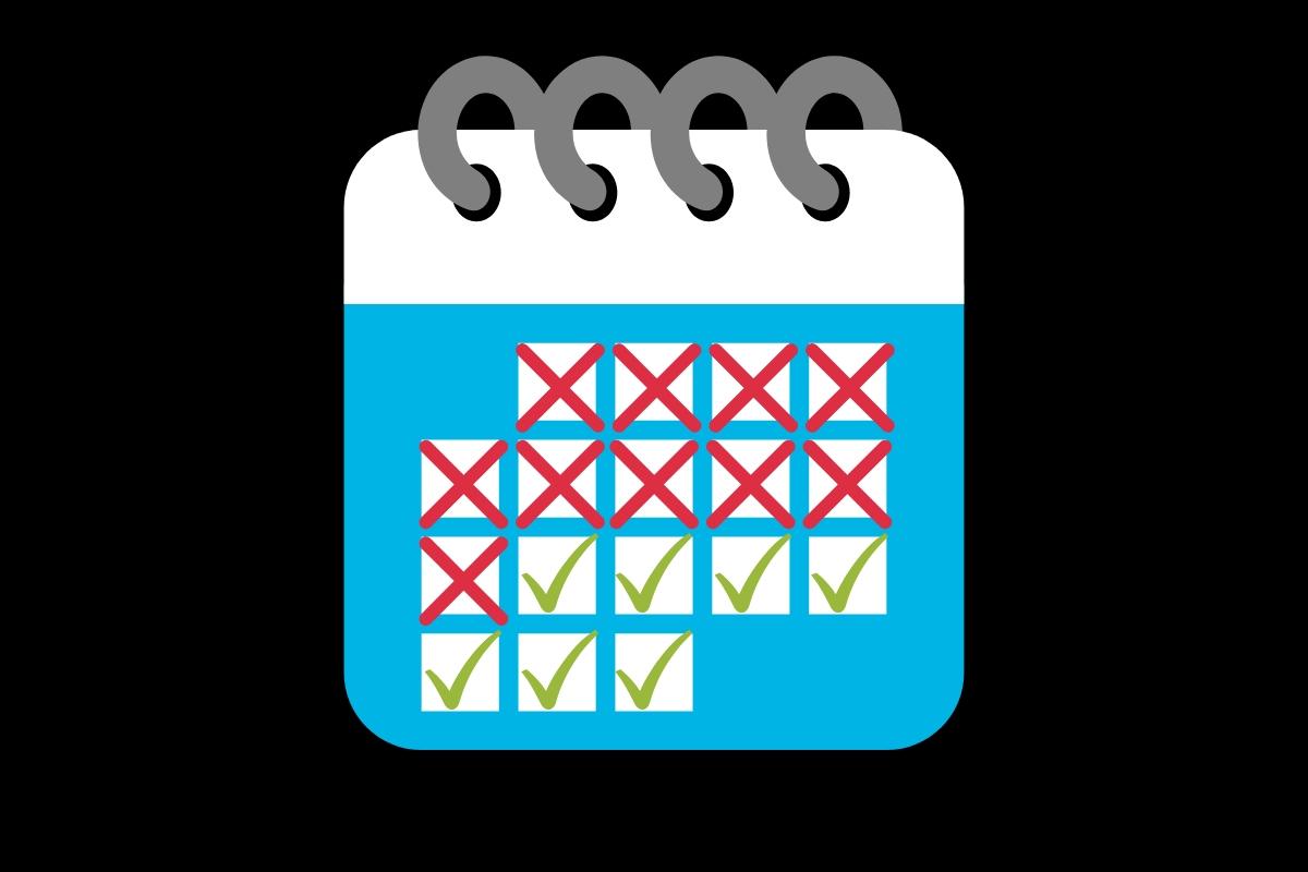 objetivos e metas calendário