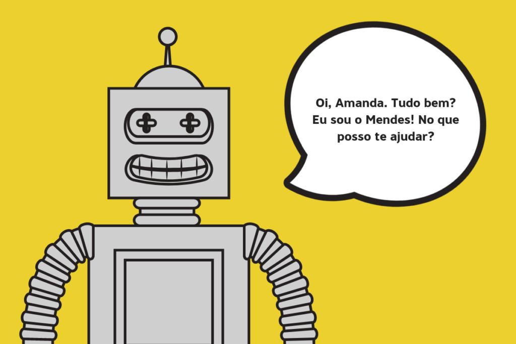 robô para usar em chats personalizados