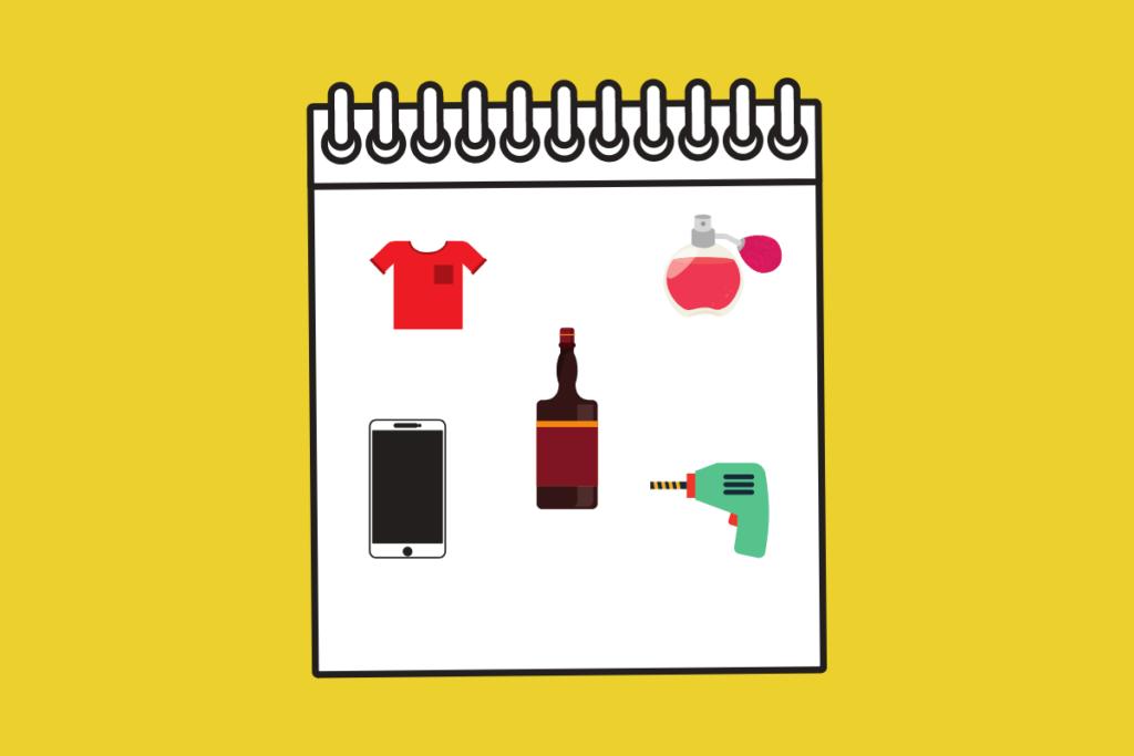 Lista de presentes do dia dos pais