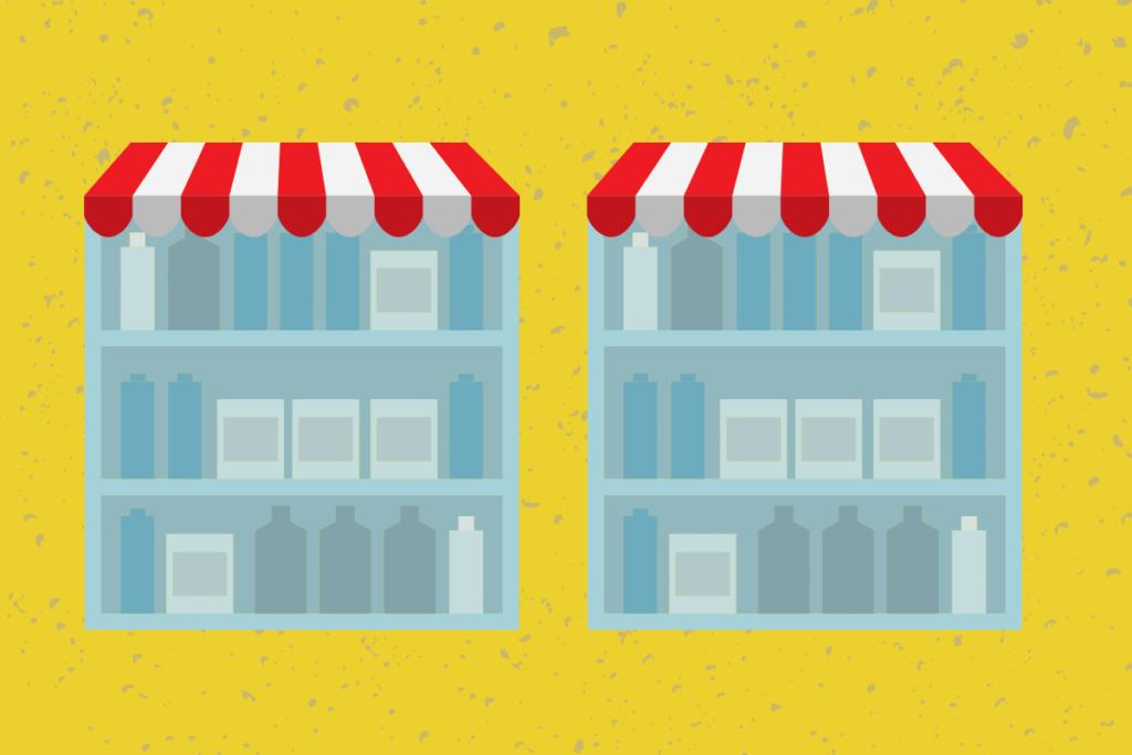 Quantidade de produtos em lojas virtuais de plataforma
