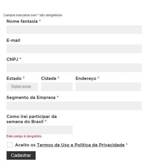 Formulário da Semana do Brasil