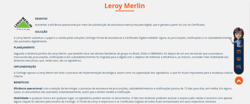 certificado digital leroy merlin