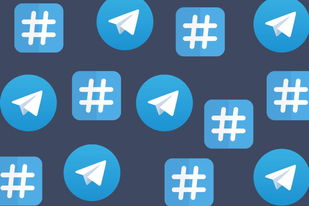 Menções no grupo e Hashtags