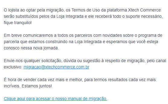 Xetch - e-mail com nota oficial