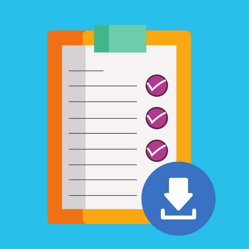 Checklist com ideias de postagem para o Instagram