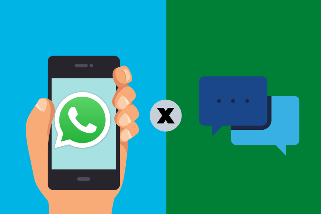 Diferenças entre o chat online e o WhatsApp