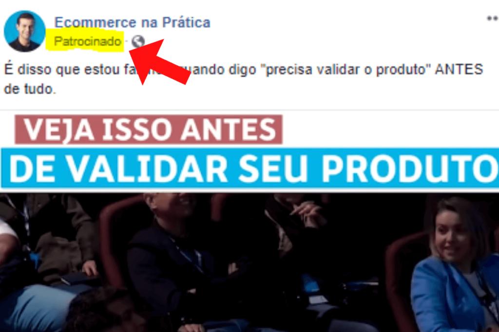 Anúncios do Facebook patrocinado