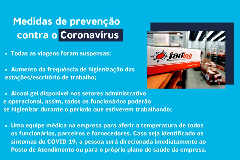 logistica de entrega coronavirus - jadlog