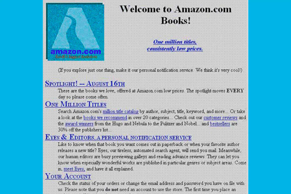 site amazon - ecommerce