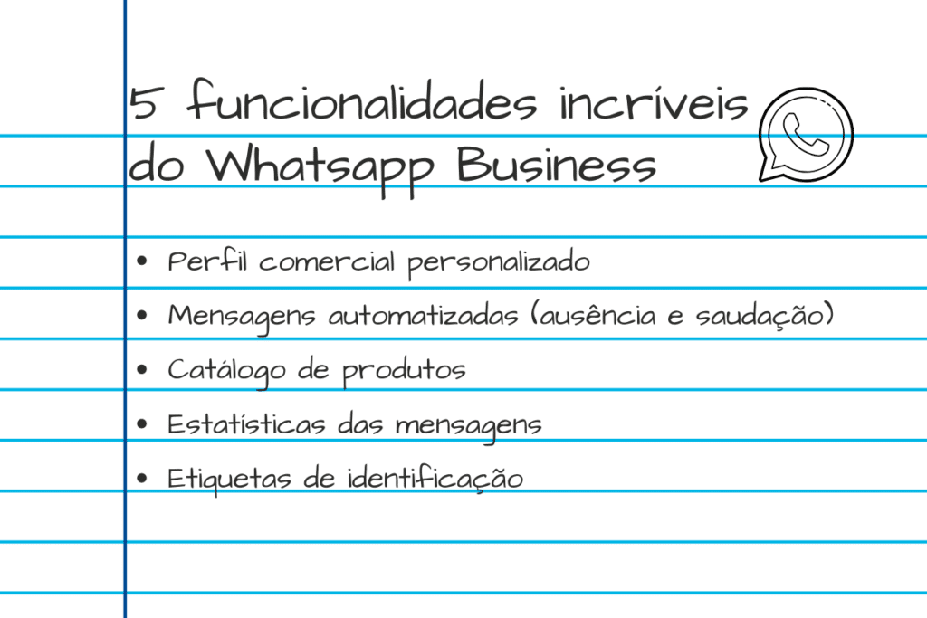 whatsapp business - funcionalidades