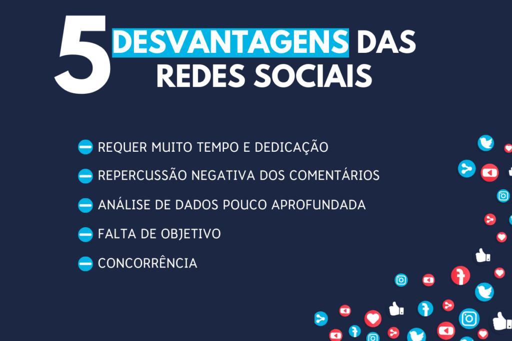 Desvantagens das redes sociais